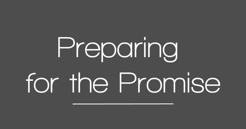 Preparing for the Promise