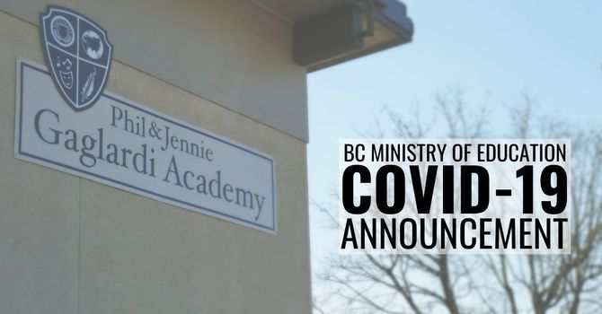 Yesterday's Announcement - Update to COVID-19 Safety Protocols in Schools image