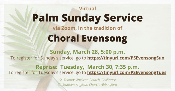 Online Evensong for Palm Sunday
