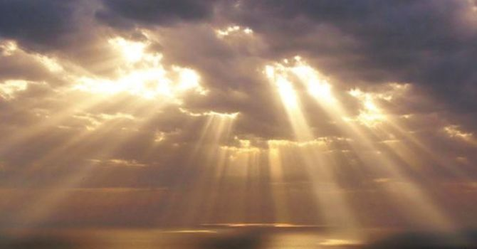 God-light is streaming into the world
