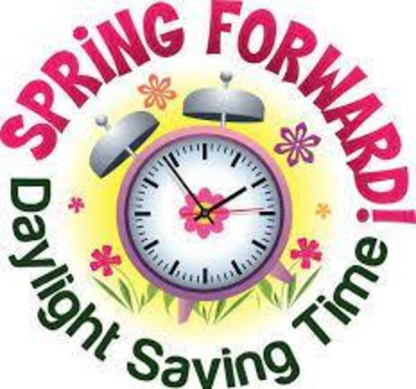 Daylight Saving Time begins 2am Sunday morning