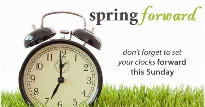 Daylight Savings Time Begins! image