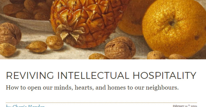 Thoughtful Thursday: Reviving Intellectual Hospitality image