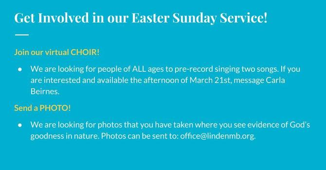 Get involved in our Easter Sunday Service! image