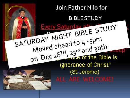 Bible Study with Father Nilo Macapinlac