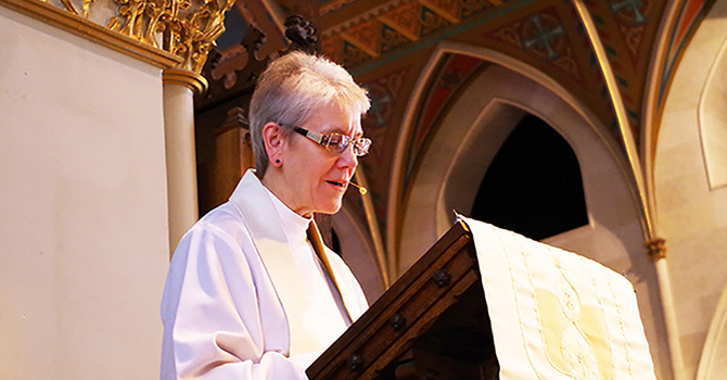 Bishop Linda Nicholls of the Diocese of Huron the first woman to become the Primate of the Anglican Church of Canada