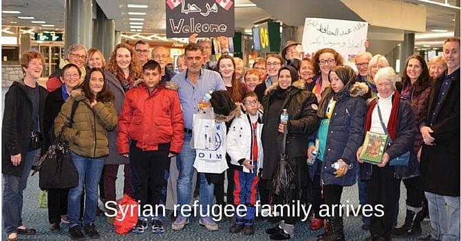 Syrian Refugee Family arrives. image