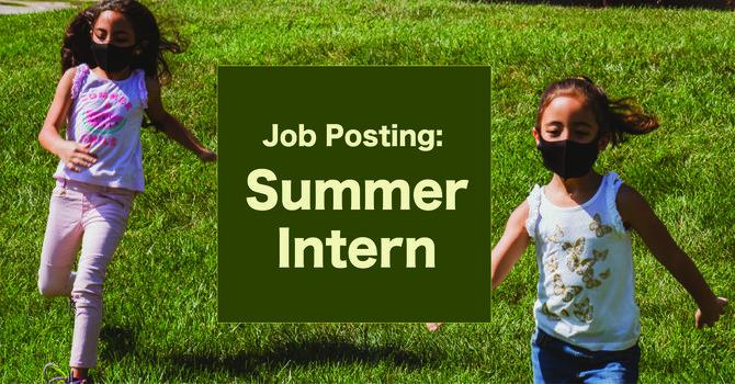 Job Posting for Summer Intern image