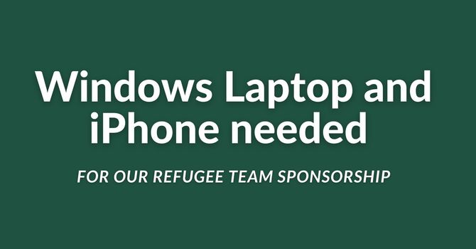 Windows Laptop and iPhone needed image