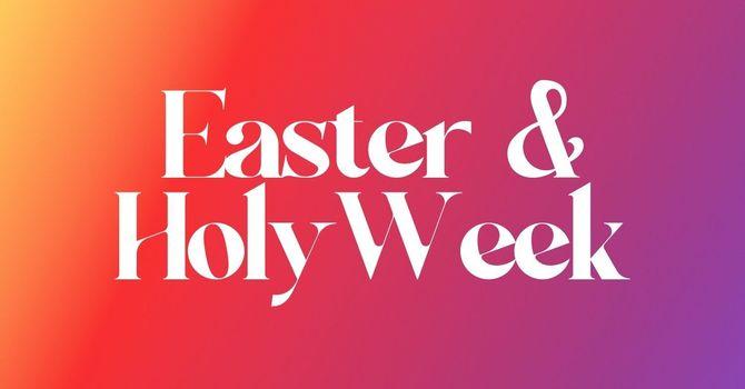 Holy Week & Easter image