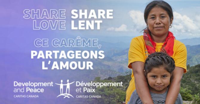 Carême de partage de Développement et Paix  image