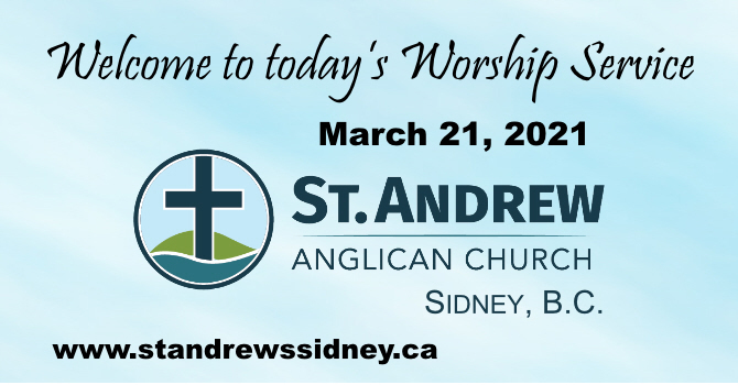 March 21, 2021 On-Line Sunday Service image