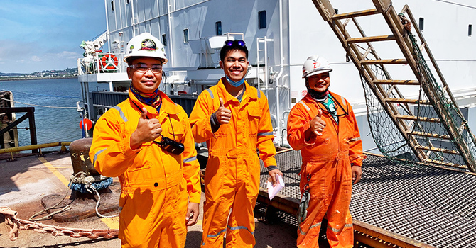 'With a little bit of effort, I can move mountains for these seafarers' image