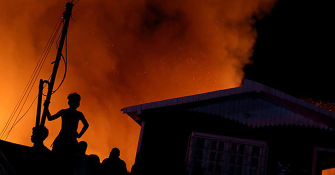 A huge fire in Manaus, Brazil. Pray for our sisters and brothers in the Diocese of Amazonia image
