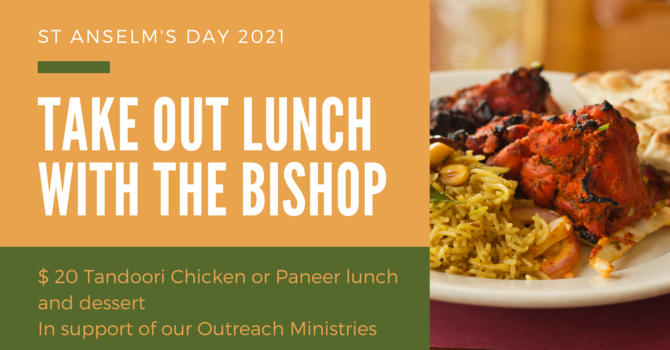 Fundraiser-April 18: Take Out Lunch with The Bishop  image