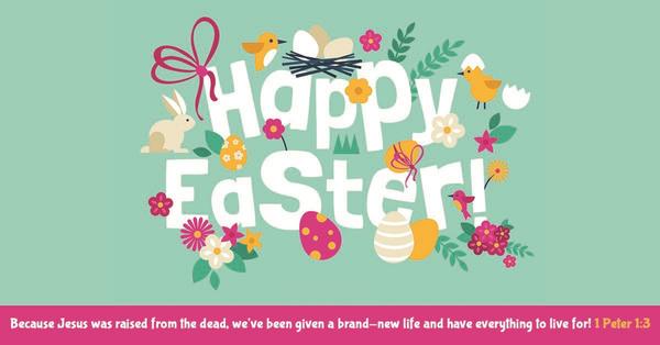 Happy Easter!  He is risen indeed!