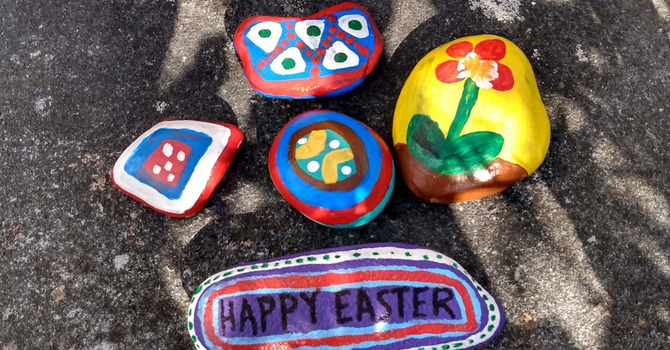 Painted Rocks for Easter image