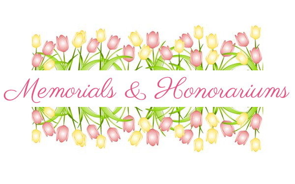 March Memorials and Honorariums