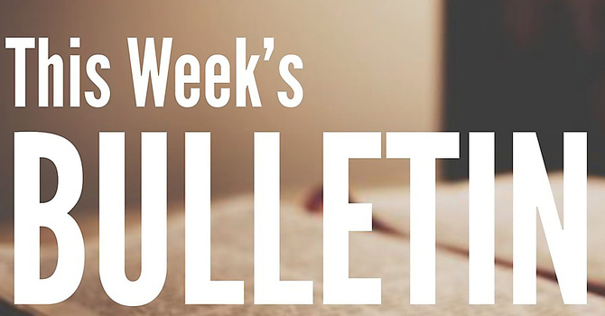 Bulletin for Sunday, March 28, 2021 image