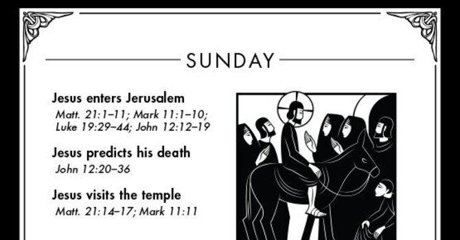 Holy Week: Palm Sunday (March 29, AD 33) image