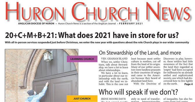 NEW! Huron Church News for February 2021 now available!