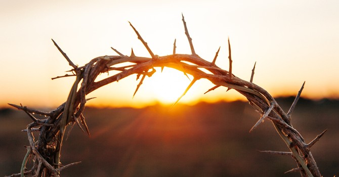 The distress of Jesus image