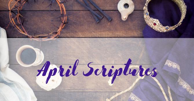 Scriptures for April image