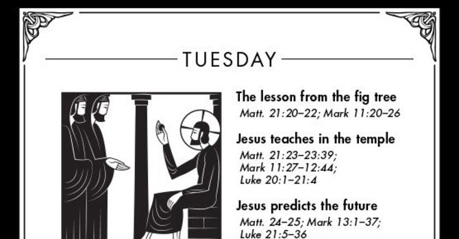 Holy Week: Tuesday (March 31, AD 33) image