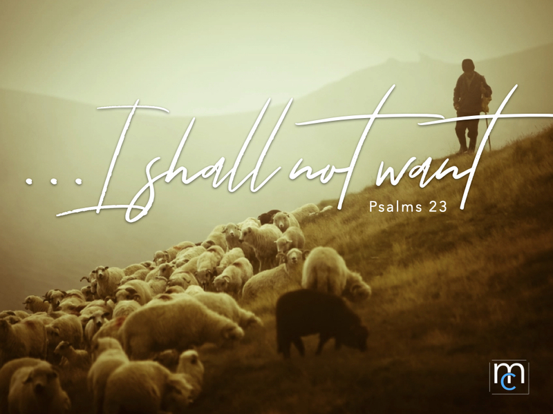 I Shall Not Want...He Restoreth My Soul