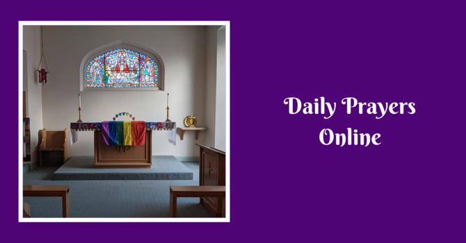 Daily Prayers for Maundy Thursday, April 1, 2020