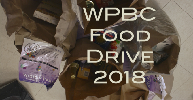 Weston Park Food Drive ... the Video image