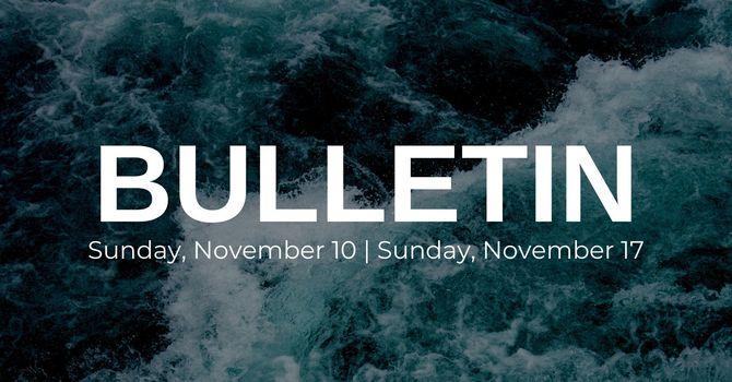 Bulletin - November 10/November 17 image