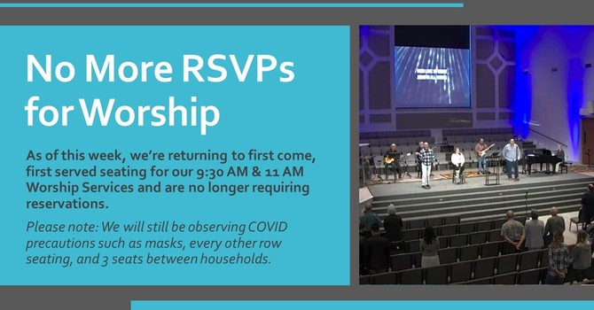 No More RSVP's for Worship image