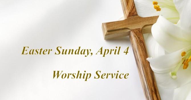 Easter Sunday, April 4 Worship Service image