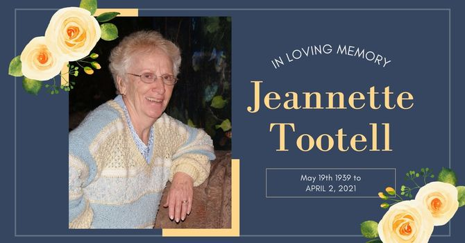 Jeannette Tootell Memorial Service