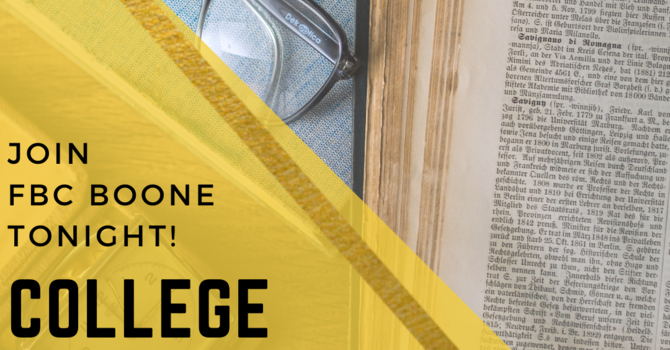 College Bible Study (will resume in August)