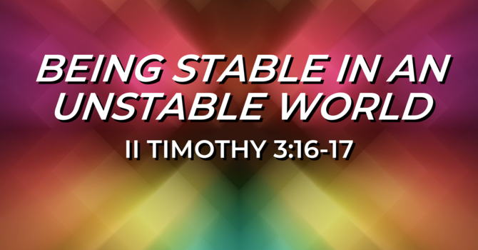 Being Stable in an Unstable World