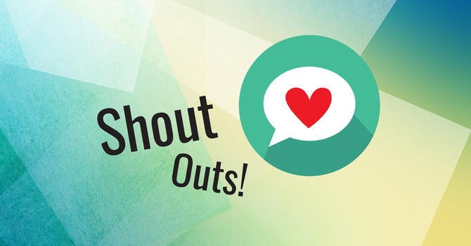 Shout out your shout-outs!