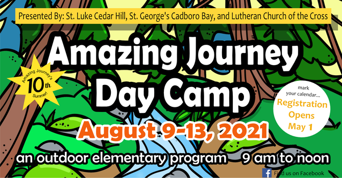 Save the Dates - The Amazing Journey Day Camp 2021 image