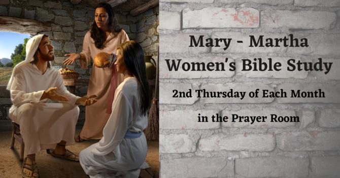 Mary-Martha Women's Bible Study