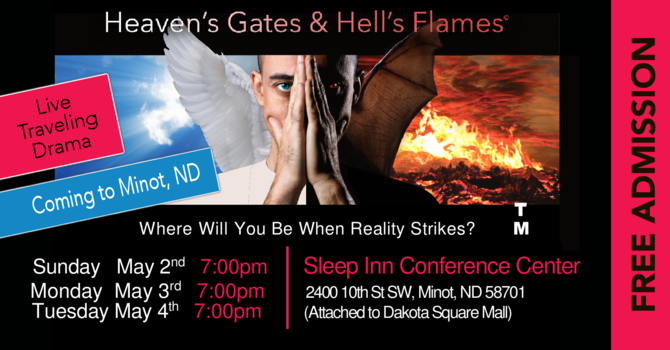 Volunteers needed for Heaven's Gates and Hell's Flames Live Drama image