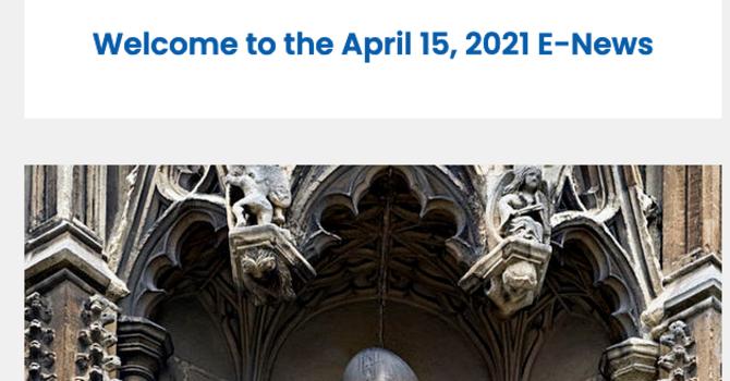 Link to April 15, 2021 E-News image