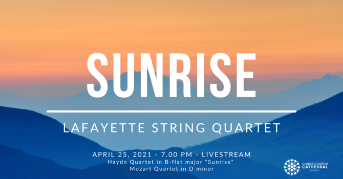 Lafayette String Quartet performs livestream concert from Christ Church Cathedral image