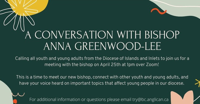Conversation with Bishop Anna - April 25th - 1 pm - via Zoom image