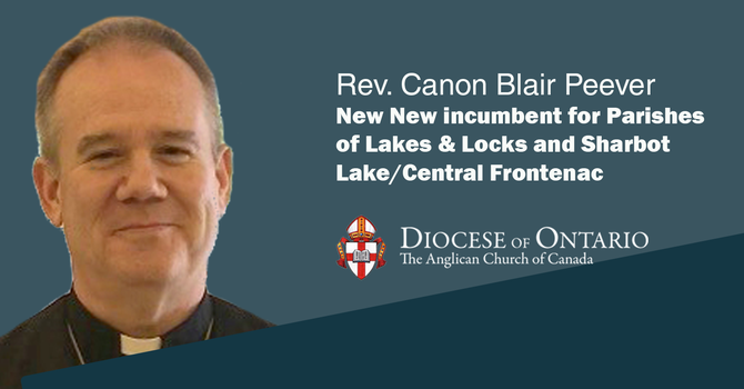New incumbent for Parishes of Lakes & Locks and Sharbot Lake/Central Frontenac image
