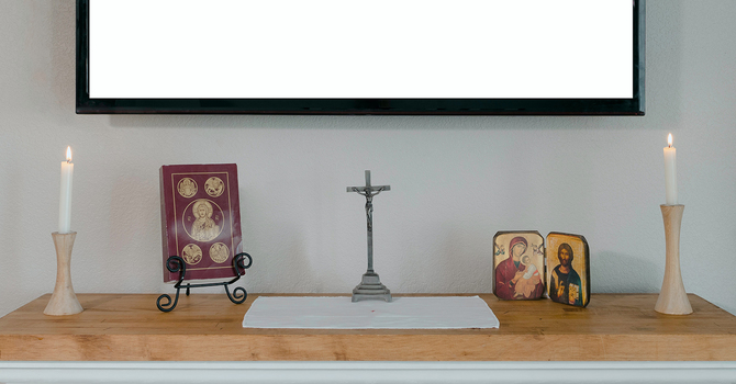 The altar in our house