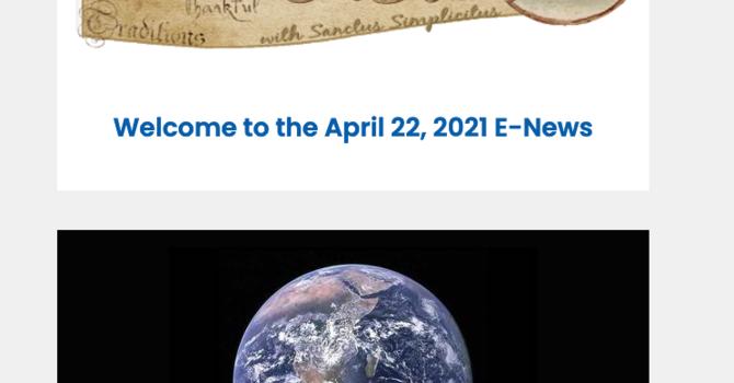 Link to the April 22, 2021 E-News image