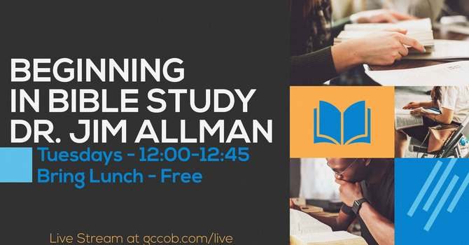 Beginning in Bible Study