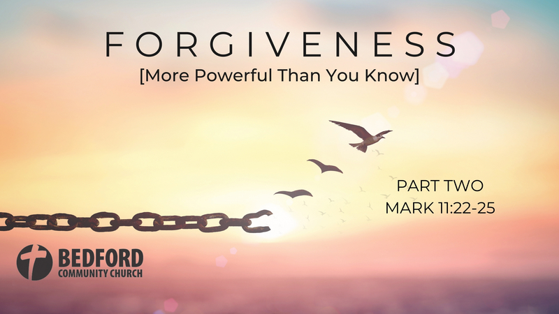 Forgiveness - Part Two