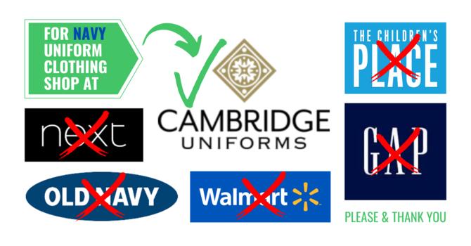 Purchase your navy uniform items at Cambridge Uniforms image